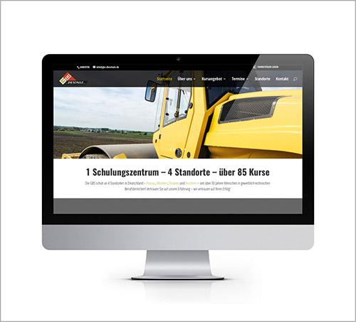 Ansicht der Webseite GBS-Die Schule